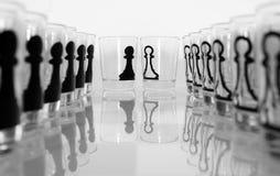 Szklany szachy obraz stock
