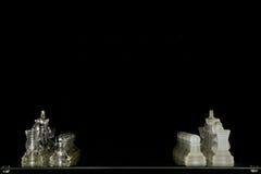 Szklany szachy set Obrazy Stock