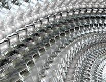 Szklany sześcianu szyk - Abstrakcjonistyczny tło Fotografia Royalty Free