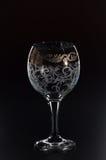 Szklany szkło na czarnym tle Zdjęcia Stock