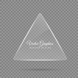 Szklany sztandar Przejrzyści geometryczni kształty Zdjęcie Stock