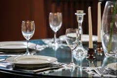 Szklany tableware Zdjęcia Stock