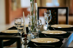 Szklany tableware Obrazy Royalty Free
