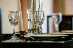 Szklany tableware Obrazy Stock