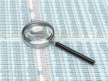 szklany target591_0_ spreadsheet Zdjęcie Royalty Free