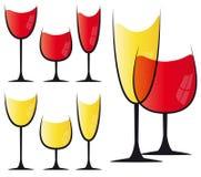 szklany ustalony wino Zdjęcia Royalty Free