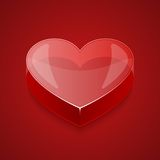 Szklany Wektorowy serce Zdjęcie Stock