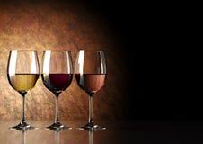 szklany wino Fotografia Stock