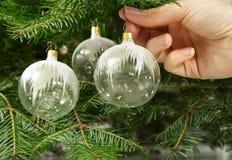 szklany wisi ornament zdjęcie stock