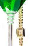 szklany wiszący Martini zegarka nadgarstek Zdjęcia Stock