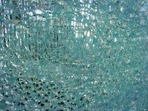 Szklany złamanie i łamany okno Fotografia Stock