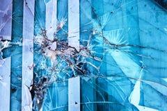 Szklany złamanie i bezpieczeństwo Obraz Stock