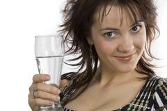 szklanych chwytów wodna kobieta zdjęcia royalty free
