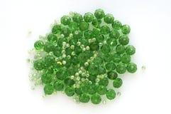 Szklanych koralików zieleń Obrazy Stock