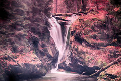 Szklarka Waterfall in Karkonosze Mountains, Szklarska Poreba, Po Royalty Free Stock Image