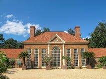 Szklarnia i ogród przy Mount Vernon Virginia zdjęcie royalty free