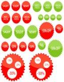 szkliste ceny gwiazdy etykietki Obraz Royalty Free
