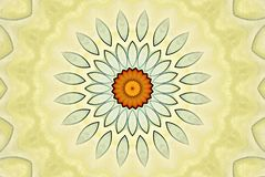 Szklisty kwiat w jaskrawych kolorach ilustracja wektor