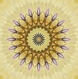 Szklisty kwiat w jaskrawych kolorach ilustracji