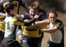 Szkoła Średnia Świetlicowy rugby Fotografia Royalty Free
