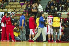 Szkoła Średnia mecz koszykówki, HBL Zdjęcie Royalty Free