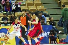 Szkoła Średnia mecz koszykówki, HBL Fotografia Stock