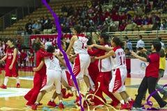 Szkoła Średnia mecz koszykówki, HBL Fotografia Royalty Free