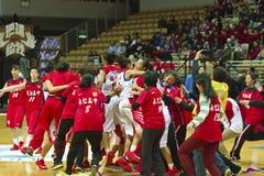 Szkoła Średnia mecz koszykówki, HBL Zdjęcie Stock