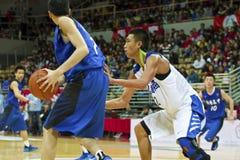 Szkoła Średnia mecz koszykówki, HBL Obrazy Royalty Free
