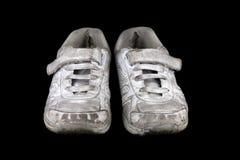 Szkoła buty na Czarnym tle zdjęcia stock