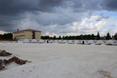 Szkoła dla syryjskich uchodźców w Akcakale Obrazy Stock