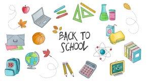 Szkoła i edukacja ustawiający ręki rysować ilustracje ilustracji