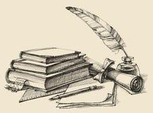 Szkoła i uczenie skład royalty ilustracja