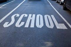 Szkoła pisać na asfalcie Zdjęcia Stock