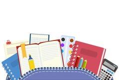 szkoła Plecakowi i szkolni tematy dla również zwrócić corel ilustracji wektora ilustracji