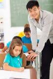 Szkoła podstawowa nauczyciel obrazy stock