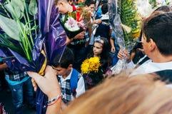Szkoła podstawowa ucznie Fotografia Royalty Free
