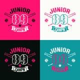 Szkoła wyższa baseballa juniora drużyny emblemat royalty ilustracja