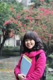 szkoła wyższa chińska dziewczyna zdjęcie royalty free