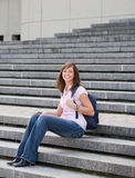 szkoła wyższa dziewczyna zdjęcie stock