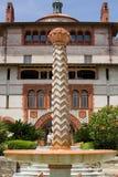 szkoła wyższa flagler fontanna Fotografia Royalty Free