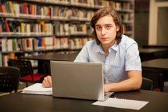 szkoła wyższa laptopu studencki używać Obraz Royalty Free