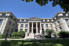 Szkoła wyższa & uniwersytet w Iowa mieście, Iowa obrazy royalty free