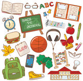 Szkoły & edukaci ikony Obraz Royalty Free
