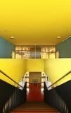 szkoły państwowej schody widok Fotografia Royalty Free