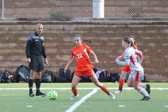 Szkoły wyższa NCAA DIV III kobiet piłka nożna Fotografia Stock