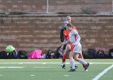 Szkoły wyższa NCAA DIV III kobiet piłka nożna obrazy royalty free