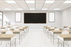 Szkoły wyższa sala lekcyjnej wnętrze Zdjęcie Royalty Free