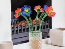 Szkło kwiaty Obrazy Royalty Free