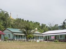 Szkoła podstawowa dla Moken dzieci, Myanmar Obrazy Royalty Free